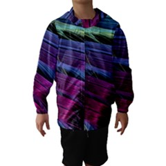 Abstract Satin Hooded Wind Breaker (Kids)