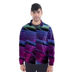 Abstract Satin Wind Breaker (Men)