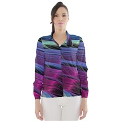 Abstract Satin Wind Breaker (Women)