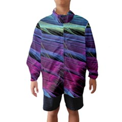 Abstract Satin Wind Breaker (Kids)