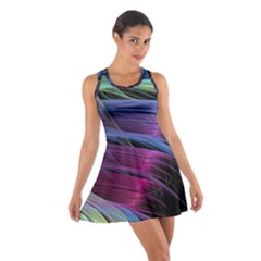 Abstract Satin Cotton Racerback Dress