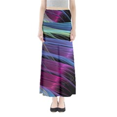 Abstract Satin Maxi Skirts