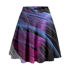 Abstract Satin High Waist Skirt