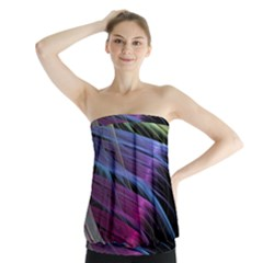 Abstract Satin Strapless Top