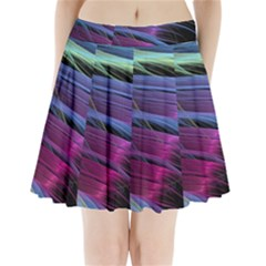 Abstract Satin Pleated Mini Skirt