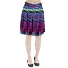 Abstract Satin Pleated Skirt