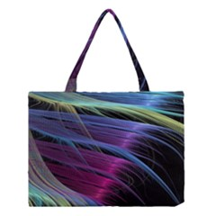 Abstract Satin Medium Tote Bag