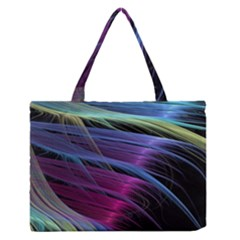 Abstract Satin Medium Zipper Tote Bag