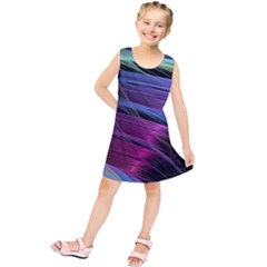 Abstract Satin Kids  Tunic Dress