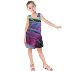 Abstract Satin Kids  Sleeveless Dress