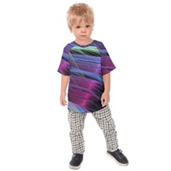 Abstract Satin Kids  Raglan Tee
