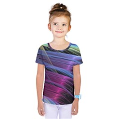 Abstract Satin Kids  One Piece Tee