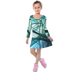 Abstract Kids  Long Sleeve Velvet Dress