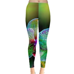 Alien Orchids Floral Art Photograph Leggings