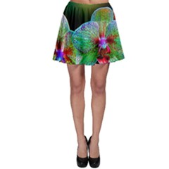 Alien Orchids Floral Art Photograph Skater Skirt