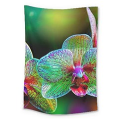 Alien Orchids Floral Art Photograph Large Tapestry