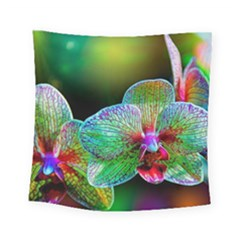 Alien Orchids Floral Art Photograph Square Tapestry (Small)