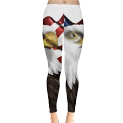 American Eagle Flag Sticker Symbol Of The Americans Leggings
