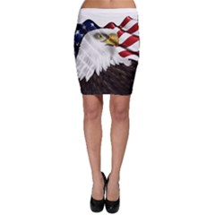 American Eagle Flag Sticker Symbol Of The Americans Bodycon Skirt