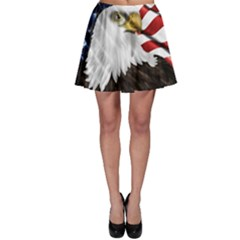 American Eagle Flag Sticker Symbol Of The Americans Skater Skirt