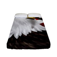 American Eagle Flag Sticker Symbol Of The Americans Fitted Sheet (full/ Double Size)