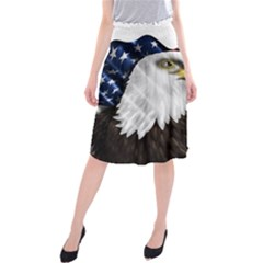 American Eagle Flag Sticker Symbol Of The Americans Midi Beach Skirt