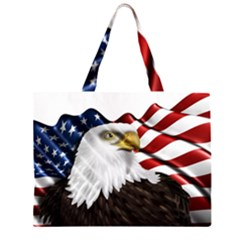 American Eagle Flag Sticker Symbol Of The Americans Large Tote Bag