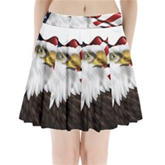 American Eagle Flag Sticker Symbol Of The Americans Pleated Mini Skirt