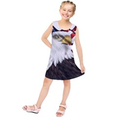 American Eagle Flag Sticker Symbol Of The Americans Kids  Tunic Dress