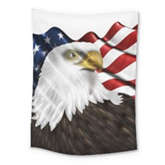 American Eagle Flag Sticker Symbol Of The Americans Medium Tapestry