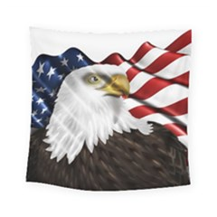 American Eagle Flag Sticker Symbol Of The Americans Square Tapestry (small)