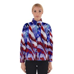 American Flag Red White Blue Fireworks Stars Independence Day Winterwear
