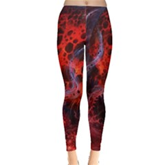 Art Space Abstract Red Line Leggings