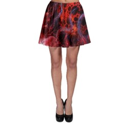 Art Space Abstract Red Line Skater Skirt