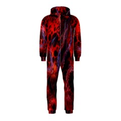 Art Space Abstract Red Line Hooded Jumpsuit (kids)