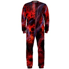 Art Space Abstract Red Line Onepiece Jumpsuit (men)