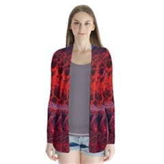 Art Space Abstract Red Line Cardigans