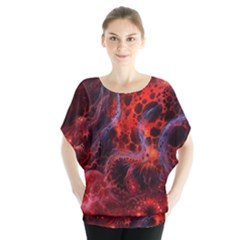 Art Space Abstract Red Line Blouse