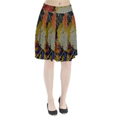 Autumn Rain Yellow Leaves Pleated Skirt
