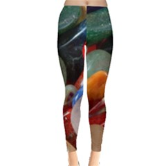 Beautiful Stones In Different Colors Colorful Leggings