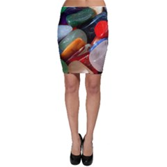 Beautiful Stones In Different Colors Colorful Bodycon Skirt