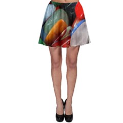 Beautiful Stones In Different Colors Colorful Skater Skirt