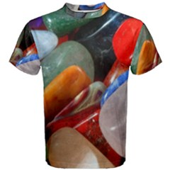 Beautiful Stones In Different Colors Colorful Men s Cotton Tee