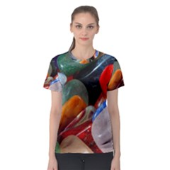 Beautiful Stones In Different Colors Colorful Women s Sport Mesh Tee