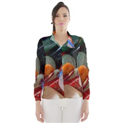 Beautiful Stones In Different Colors Colorful Wind Breaker (women)