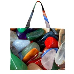 Beautiful Stones In Different Colors Colorful Large Tote Bag