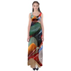 Beautiful Stones In Different Colors Colorful Empire Waist Maxi Dress