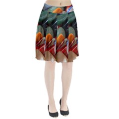 Beautiful Stones In Different Colors Colorful Pleated Skirt