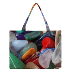 Beautiful Stones In Different Colors Colorful Medium Tote Bag