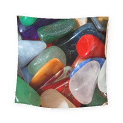 Beautiful Stones In Different Colors Colorful Square Tapestry (Small)